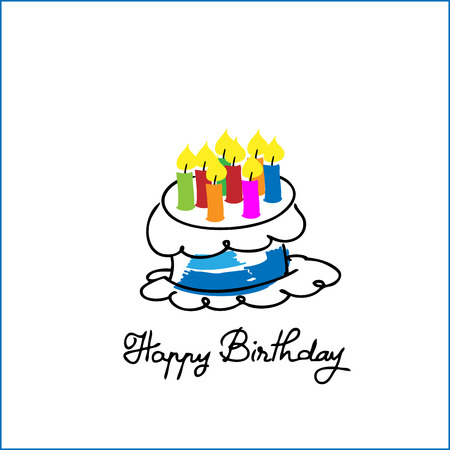 G�teau d'anniversaire dessin anim� vecteur
