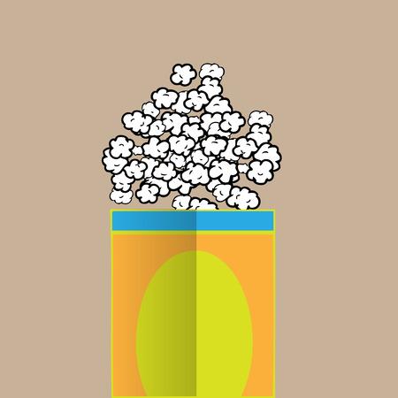 palomitas de maiz: Palomitas dibujo salado vector de la historieta Vectores
