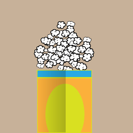eating popcorn: Popcorn salty drawing cartoon vector