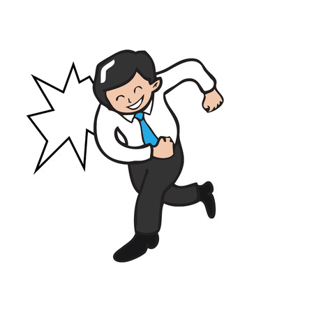 charges: man, white, vector, businessman, run, business, isolated, design, background, concept, male, human, action, charges, illustration, winter, vacation, flat, frightened, people, person, symbol, healthy, graphic, icon, body, sport, cartoon, expression, profes Illustration