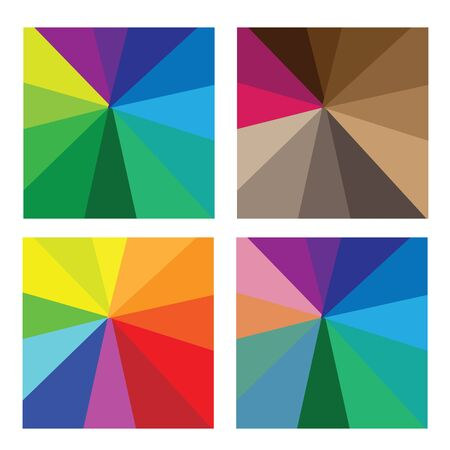 Pattern color shade tone vector