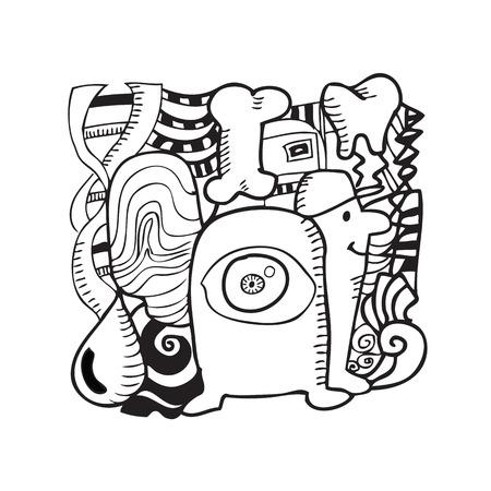 testigo: �rganos de identificaci�n y espec�menes bosquejo de dibujos animados