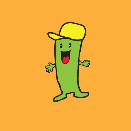 mister: Cactus mister character cartoon vector