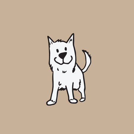 Dog character cartoon vector drawing
