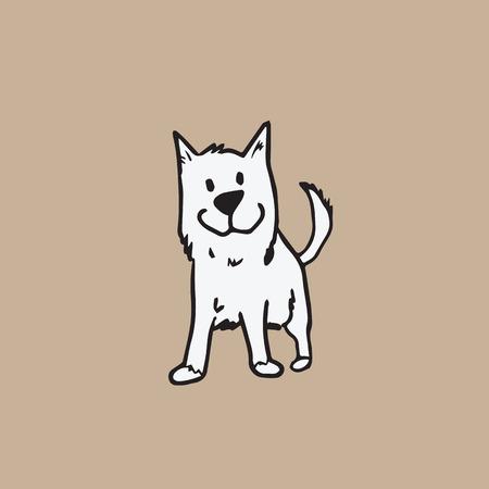 Dog character cartoon vector drawing