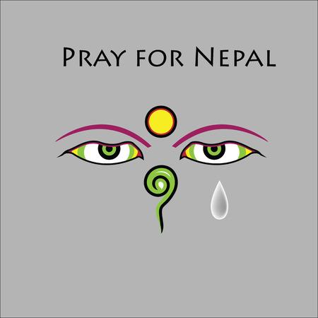 Pray for Nepal earthquake disaster Illustration