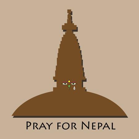 pray for: Pray for Nepal earthquake disaster Illustration