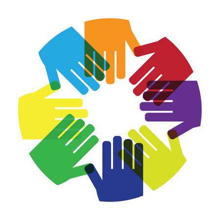 person: Hands circle hold together icon Illustration