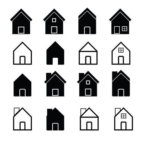 homes: Houses and homes icons set