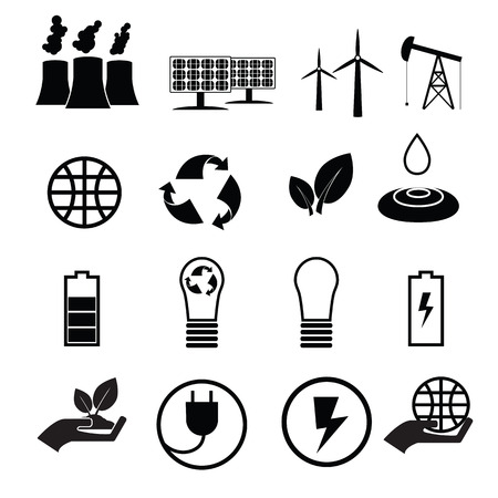 reservation: Energy reservation and recycle icons