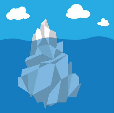 threat: Iceberg in Arctic sea vector