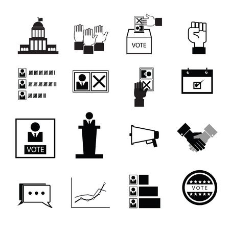 Election vote democracy icons set Ilustrace