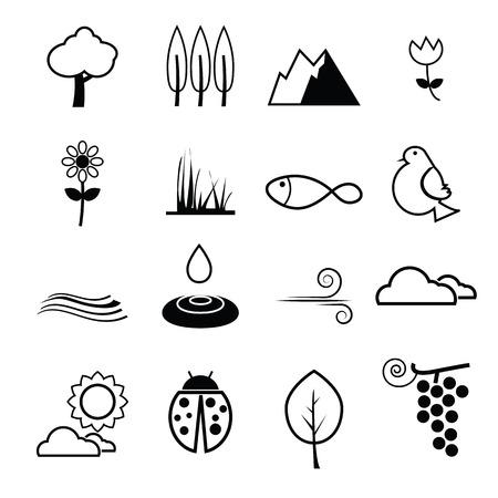harmony: Nature health life harmony icons Illustration