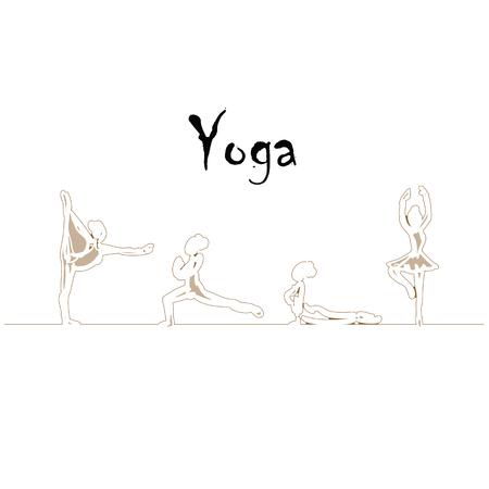 Yoga positions Illustration