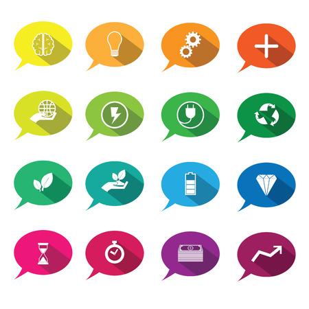 positief: Positief denken pictogrammen set ballon