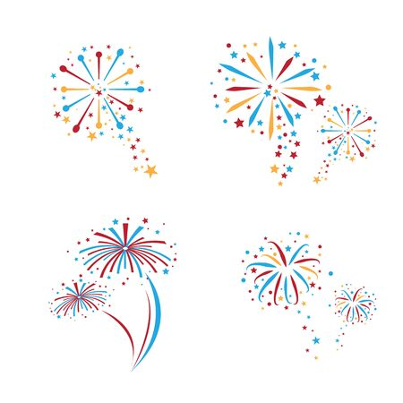 Fireworks cerebration explosive vector design