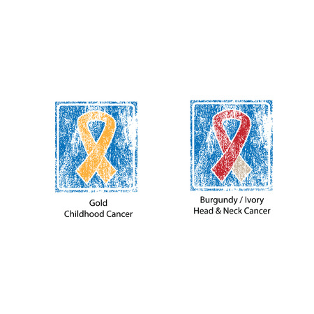 cancer ribbons: Cancer color ribbons campaign vector 2 Illustration