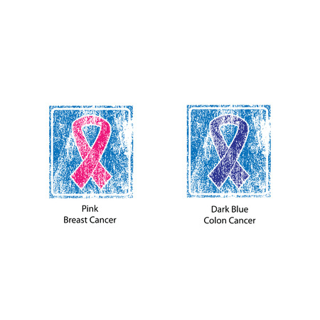 cancer ribbons: Cancer color ribbons campaign vector Illustration