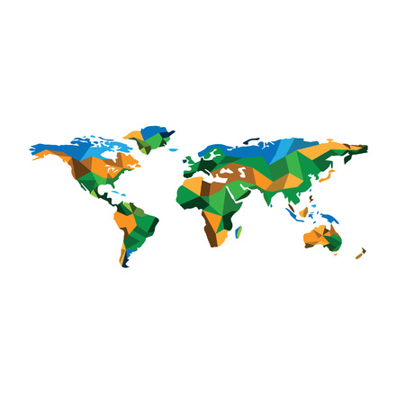 geographic: World map polygon geographic vector