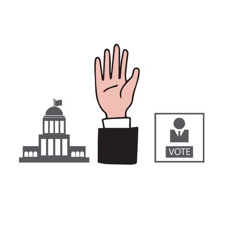 Hand up democracy vote vector  イラスト・ベクター素材