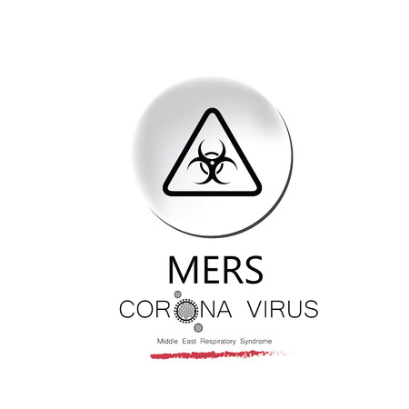 infection prevention: MERS corona virus influenza disease Illustration
