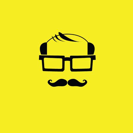 bald: Daddy and mustache vector bald avatar
