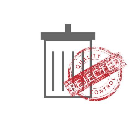 rejected: Stamp grunge rejected vintage vector