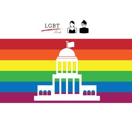 bisexual women: LGBT pride American Supreme Court vector