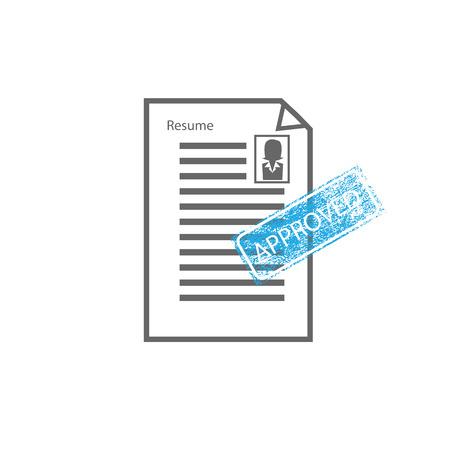 approved stamp: Signo Sello aprobado hembra hoja de vida del vector