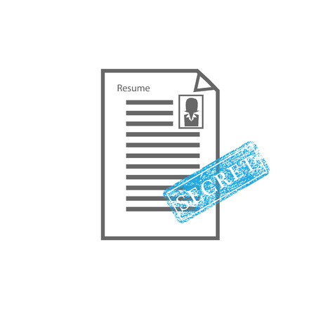 approved stamp: Approved stamp sign resume female vector Illustration
