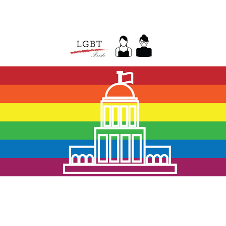 judgement day: LGBT pride American Supreme Court vector