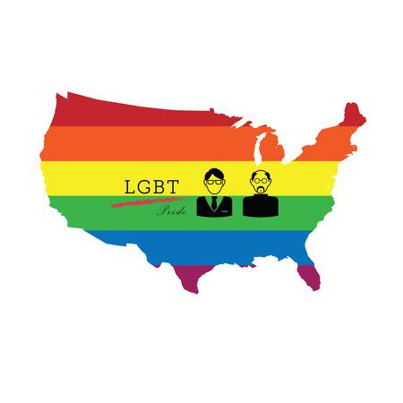 judgement day: LGBT pride America color poster vector