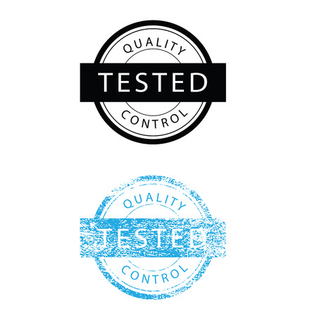 assured: Tasted quality control stmap grunge vector