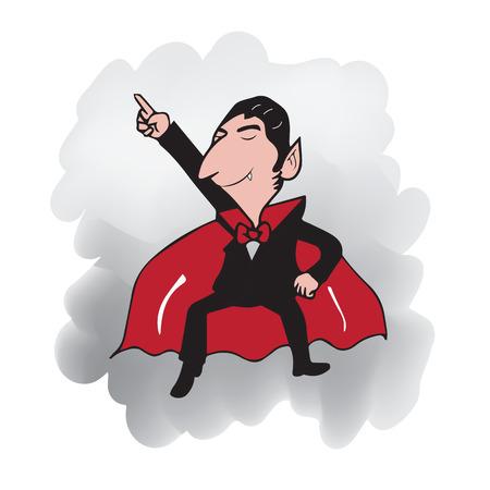 Vampire dancing cartoon drawing character Illustration