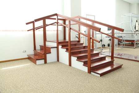 Stairs physiotherapy training unit for rehabilitation