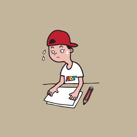 freelance: People freelance art editor cartoon character Illustration