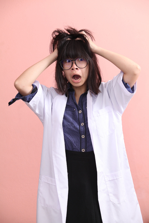 gets: Young Asian scientist gets mad