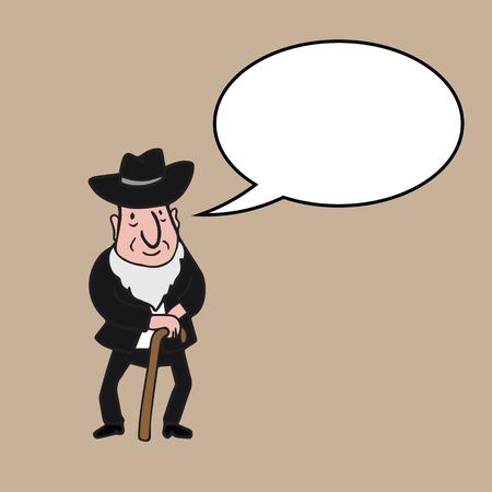 jewish: People character Jewish cartoon drawing