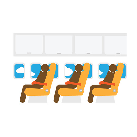 flight crew: Airplane cabin seats air transportation passengers