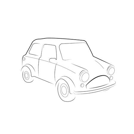 old fashioned car: Classic car old fashioned vector