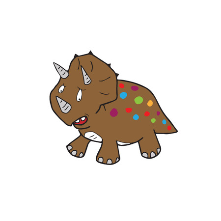 triceratops: Triceratops dinosaur cartoon drawing isolated