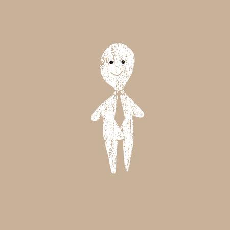 dummy: Man dummy icon cartoon stamp Illustration