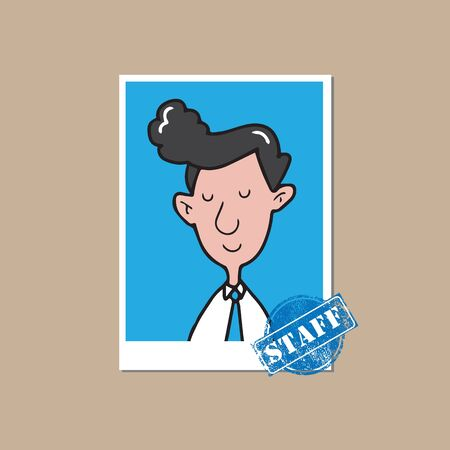 real leader: People businessman staff cartoon drawing