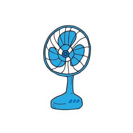 Maison élément ventilateur électrique bande dessinée