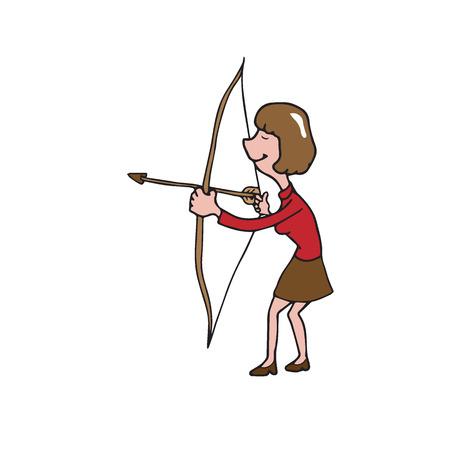business woman: People business woman archer cartoon