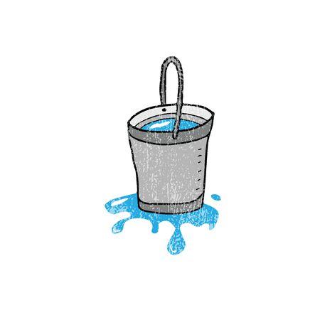 tin: House item tin bucket cartoon Illustration