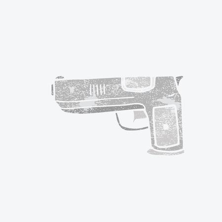 gun control: Weapon war objects pistol stamp Illustration