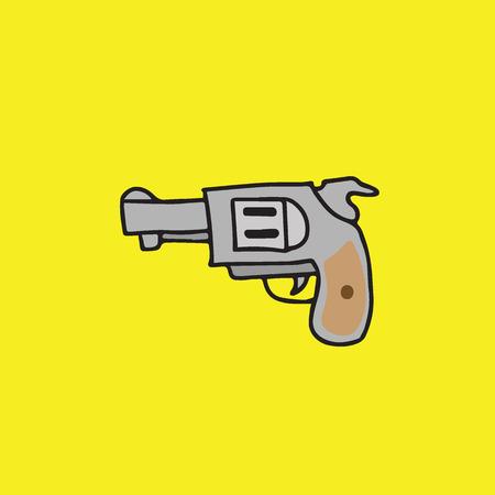 gun control: Weapon war objects pistol cartoon