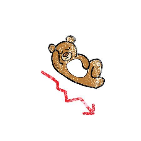 bearish: Bearish stock market regression cartoon