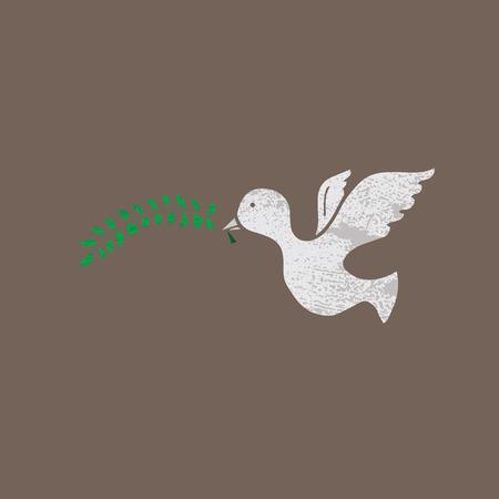 peace stamp: Animal pigeon peace symbol stamp
